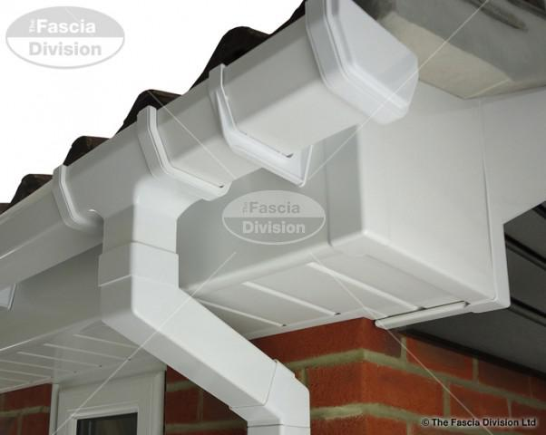 White Fascia White Tongue and Groove Soffit UPVC White Square Guttering