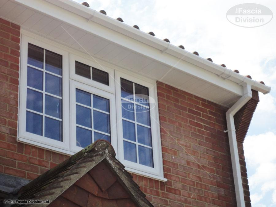 White Fascia White Tongue And Groove Soffit And White