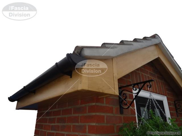 UPVC Irish Oak Fascias and Soffits, UPVC Black cast effect Guttering
