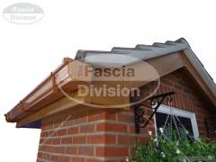 UPVC Light Oak Fascias and Soffits, UPVC Caramel Ogee Guttering