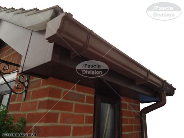 UPVC Rosewood Fascia and Soffit, UPVC Brown Ogee Guttering
