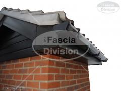 UPVC Black Ash Fascia and Soffit, UPVC Black Square Guttering