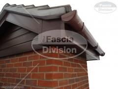 UPVC Mahogany Fascia, Mahogany Tongue and Groove Soffit, UPVC Brown Deep Round Guttering