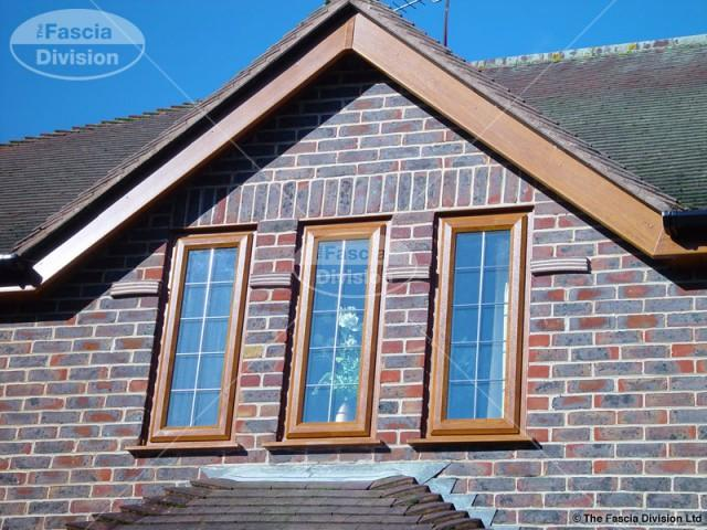 UPVC Light Oak Bargeboard Trim