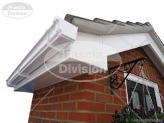 UPVC White Fascias and Soffits, UPVC White Ogee Guttering