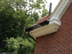 Decorative fascias and soffits black ogee guttering Haslemere Surrey