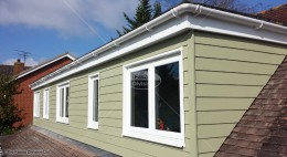 UPVC fascia, soffit and guttering with HardiePlank cladding wiltshire
