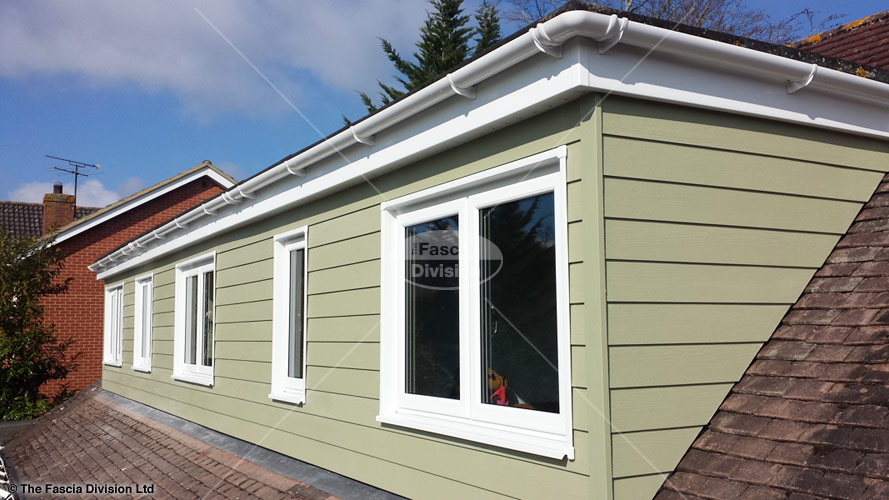 Upvc windows guttering fascias and soffits with for What is window cladding