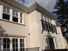 White upvc fascias and soffits white seamless ogee guttering Kingston upon Thames, Surrey