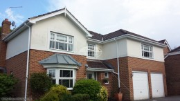 White squareline guttering, tongue and groove soffit and fascia in Whiteley, Fareham, Hampshire