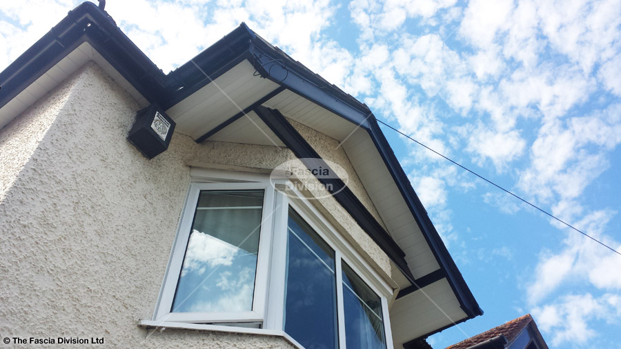 Upvc Black Ash Fascia White Soffits Black Guttering Full