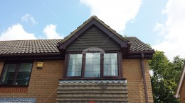 UPVC Woodgrain replacement guttering Hedge End, Hampshire