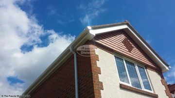 White fascia and soffit with White ogee guttering, Havant, Hampshire