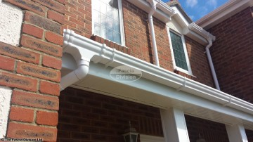 White fascia and soffit, White guttering Havant, Hampshire