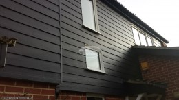 Black Hardiplank cladding with Black Ash fascias and soffits Oxford