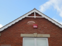 Bespoke decorative fascia with flying trusses Waterlooville
