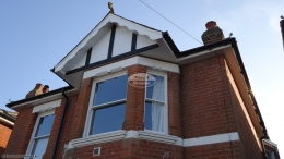 Decorative fascia with new Replica Wood tudor boards in black