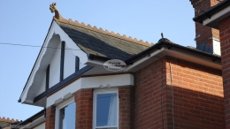 Mock tudor Replica Wood boards with decorative fascias white soffit