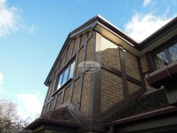 Replacement Mock Tudor Beams with UPVC fascia, soffit and guttering Southampton
