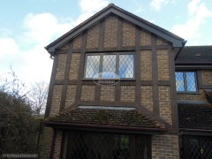 Replacement Mock Tudor Beams with UPVC fascia, soffit and guttering Winchester