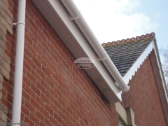 White soffit and fascia white deep flow guttering Waterlooville