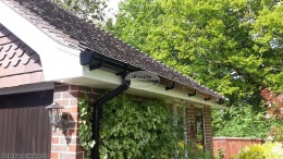 Replacement fascia, soffits and black ogee guttering Bishops Waltham