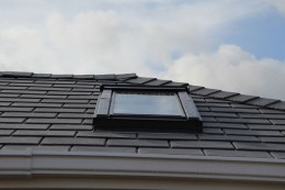 Equinox tiled roof with roof window