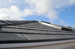 Equinox tiled roof system with roof windows