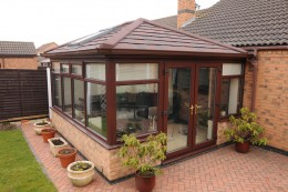 Conservatory with an Equinox tiled roof