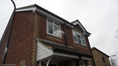 Recent,Full,Replacement,White,fascia,boards,tounge,groove,soffit,black,half,round,guttering,hampshire