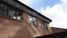rosewood,roof,trim,white,soffit,black,sqaureline,gutter,hampshire