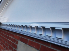 Bespoke dentil mouldings, fascia, soffit and guttering installation by The Fascia Division
