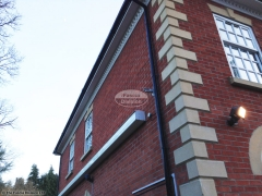 Dentil mouldings white fascia soffit black guttering