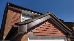 halfround new installation recent fascia board Soffits installation Basingstoke guttering upvc downpipe
