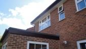 roofing contactor Rosewood woodgrain upvc fascia board Soffits installation Basingstoke guttering