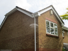 White bargeboard soffit square gutters Hedge End