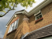 White fascia soffit square guttering Hedge End