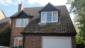 Berkshire recent full replacement black ash fascias soffits and guttering