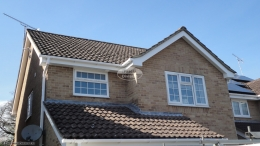Recent work replacement fascias soffits and guttering white