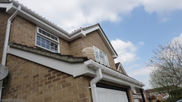 recent full replacement fascias soffits guttering white