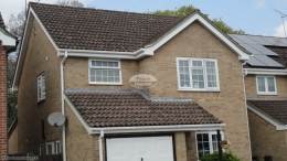fascia board replacement recent work white soffit guttering