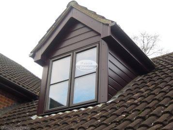 Rosewood cladding on dorma window
