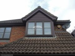 UPVC cladding on dorma window