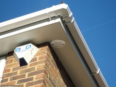 Installation of new UPVC flat soffit with square UPVC guttering