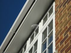 New UPVC flat soffit with square UPVC guttering installation