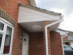 UPVC shiplap cladding with square guttering on the a porch
