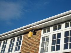 White fascia, soffit and guttering installation