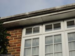 Wooden soffit sagging and coming away from the fascia