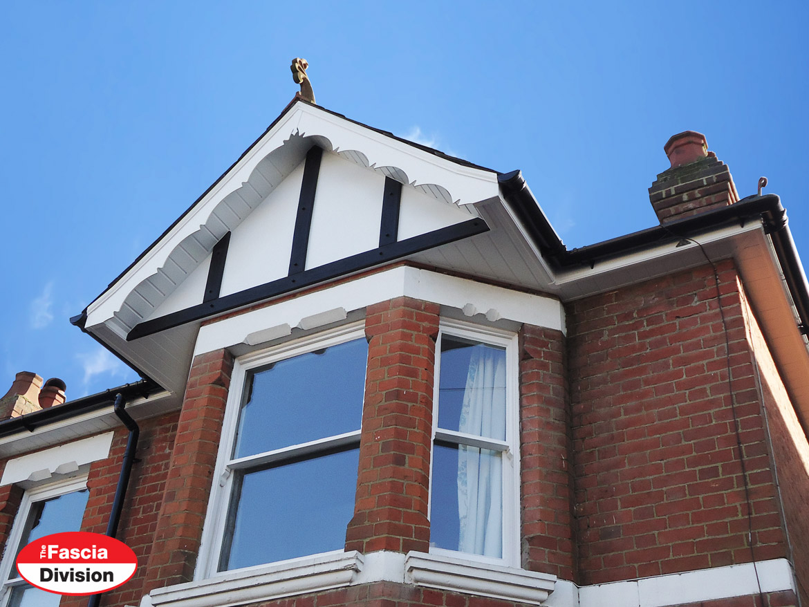 fascias soffits guttering with decorative concave bargeboards