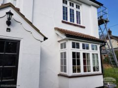After installation of new UPVC fascias and soffits with decorative fascia